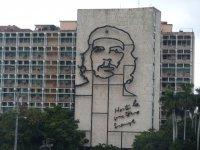 Che Guevara auf der Hausfassade