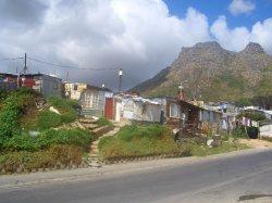 Township (Armenviertel) in der Nähe von Kapstadt