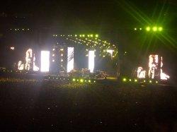 Riesige Bühne mit coolen Lichteffekten