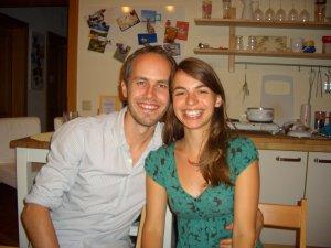 Foto von Viki und Bernd in ihrer gemeinsamen Wohnung