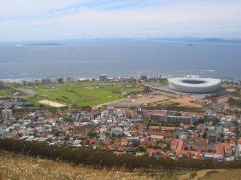 Blick vom Signal Hill auf das WM Stadion