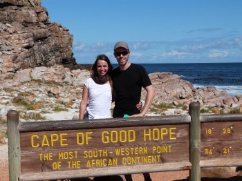 Viki und Bernd am Kap der guten Hoffnung